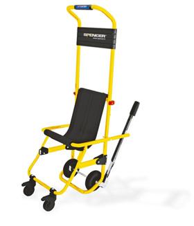 Sedia da evacuazione emspedia for Fisico sedia a rotelle